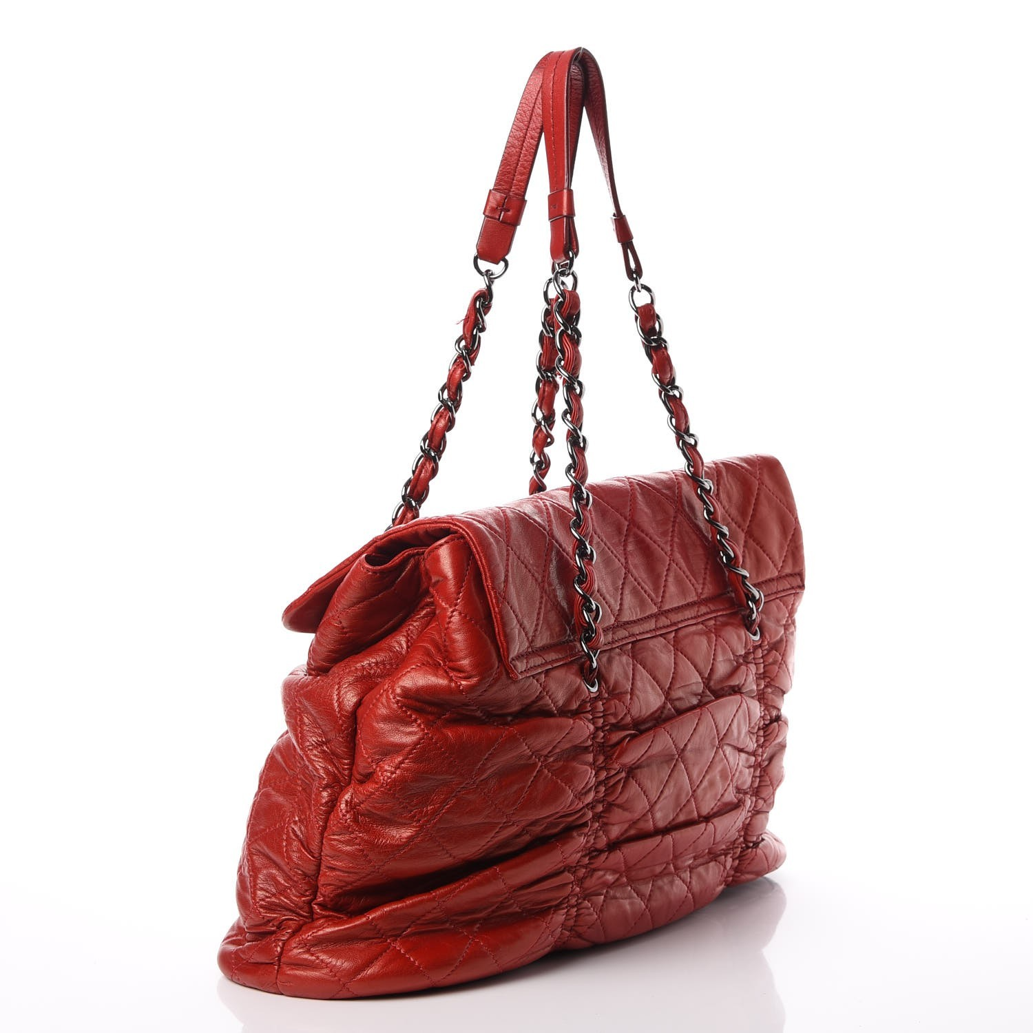 41716c67eefe CHANEL Lambskin Quilted Sharpei Flap Red 313656