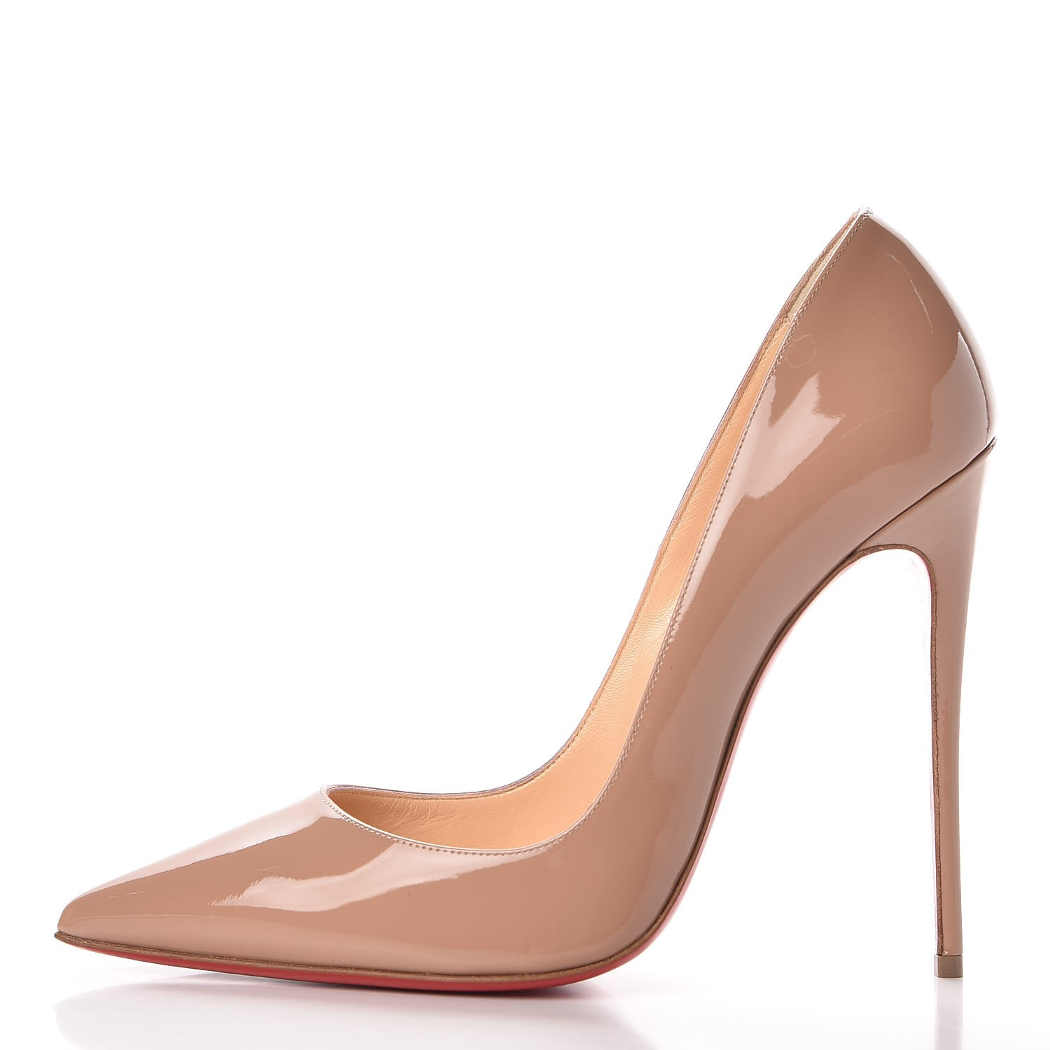 best sneakers ff260 fd1e2 CHRISTIAN LOUBOUTIN Patent So Kate 120 Pumps 39 Nude