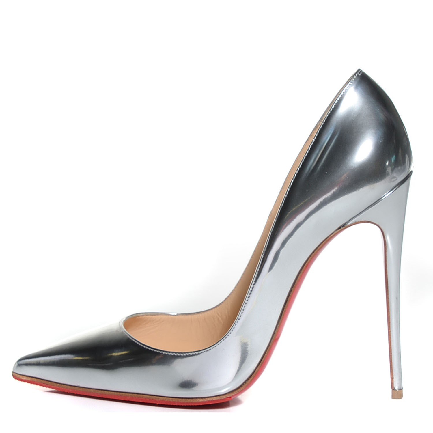 check out cca5c 47b9f CHRISTIAN LOUBOUTIN Metallic Calfskin So Kate 120 Pumps 38 ...