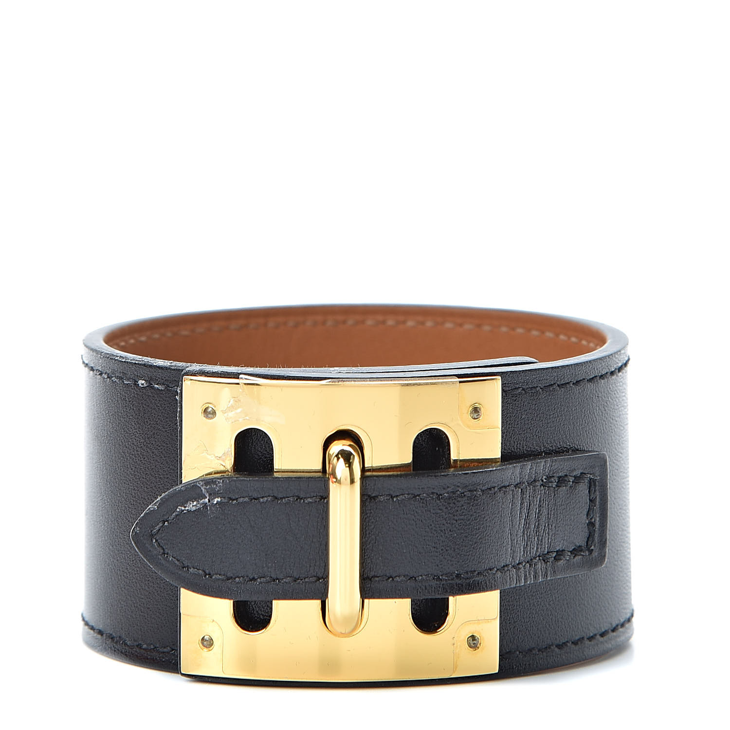 Hermes Box Intense Bracelet M Black 504057