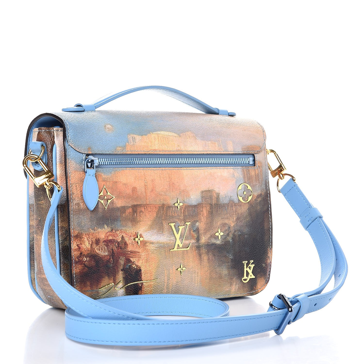 3d0189b8d9b0 LOUIS VUITTON Masters Jeff Koons Turner Pochette Metis. Empty. Pinch Zoom