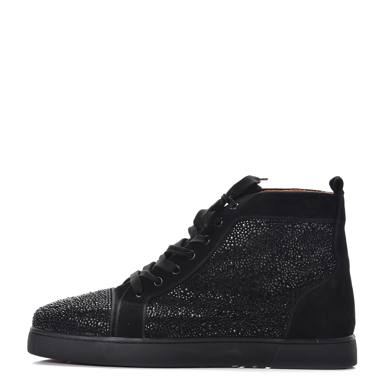 CHRISTIAN LOUBOUTIN Mens Veau Velours Strass Louis Flat