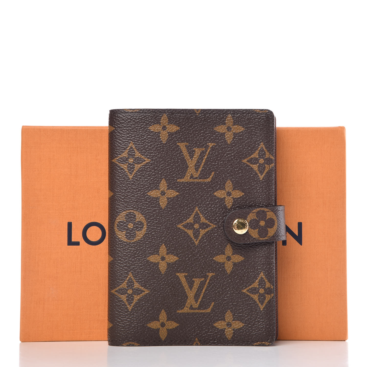 951ebf554649 LOUIS VUITTON Monogram Small Ring Agenda Cover. Pinch Zoom