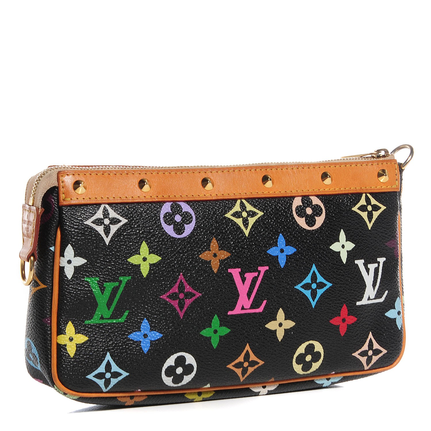424c5bca09ef LOUIS VUITTON Multicolor Pochette Accessories Black 91452