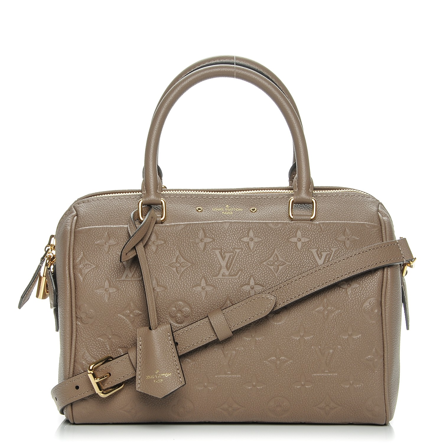 cba342cd4ed8 LOUIS VUITTON Empreinte Speedy Bandouliere 25 NM Taupe Glace. Empty.  Pinch Zoom