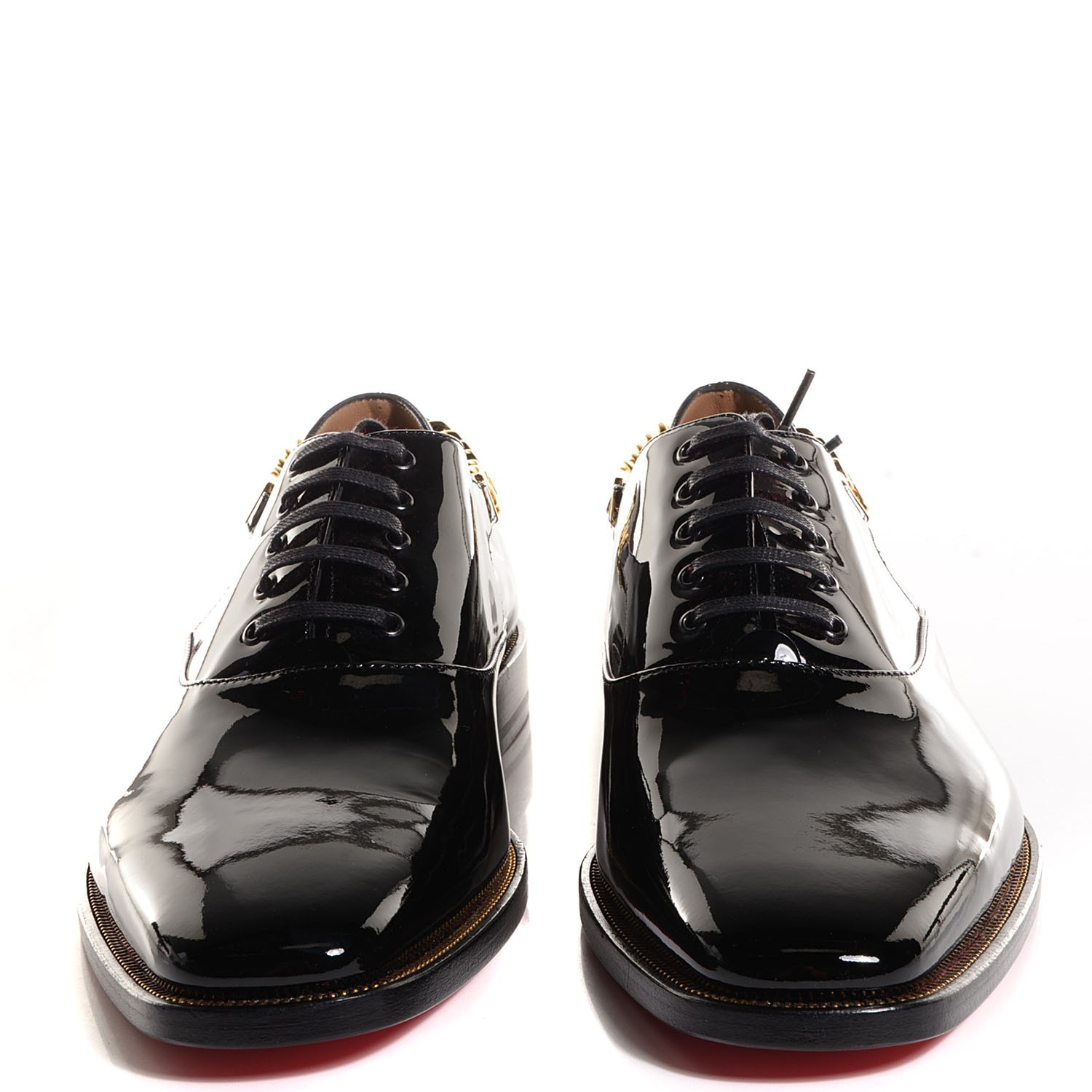 sale retailer a1e8d d3f1d CHRISTIAN LOUBOUTIN Mens Patent Stage Flat Oxfords 44 Black ...