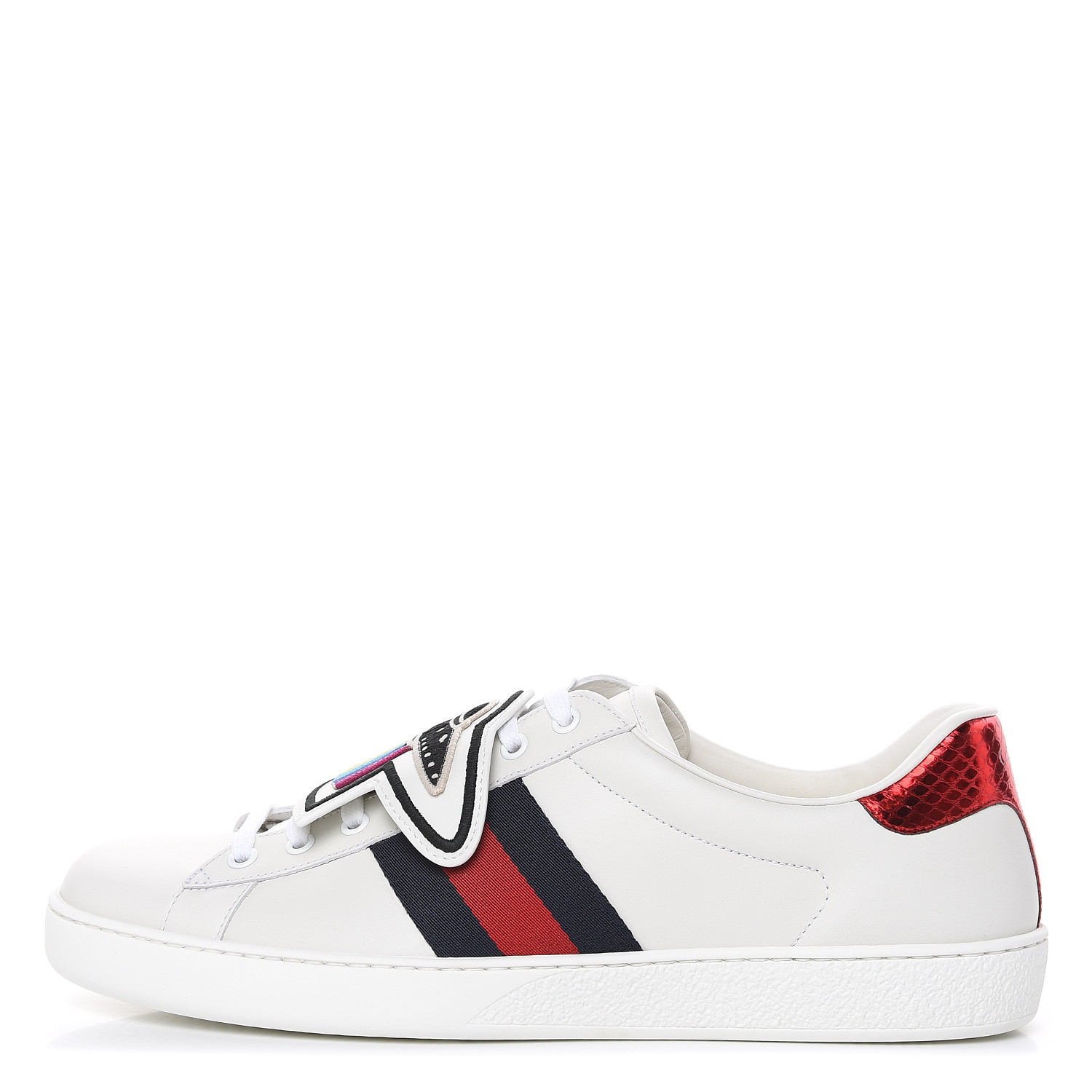 GUCCI Mens Calfskin Ayers Embroidered