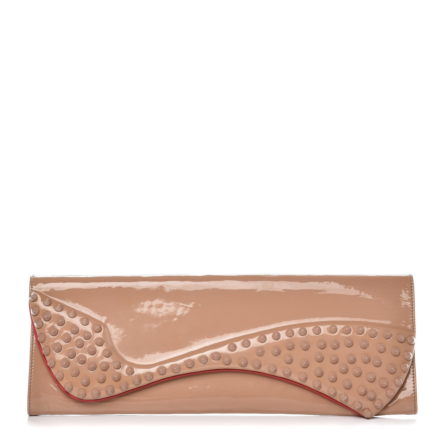 christian louboutin pigalle spiked clutch