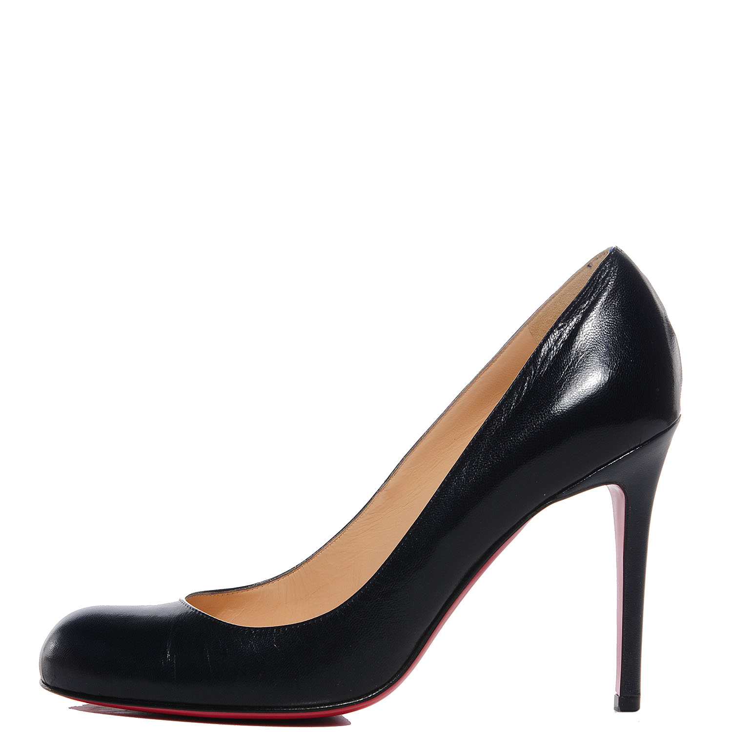 purchase cheap 3c8c7 590a1 CHRISTIAN LOUBOUTIN Kid Leather Simple 100 Pumps 39 Navy 90380