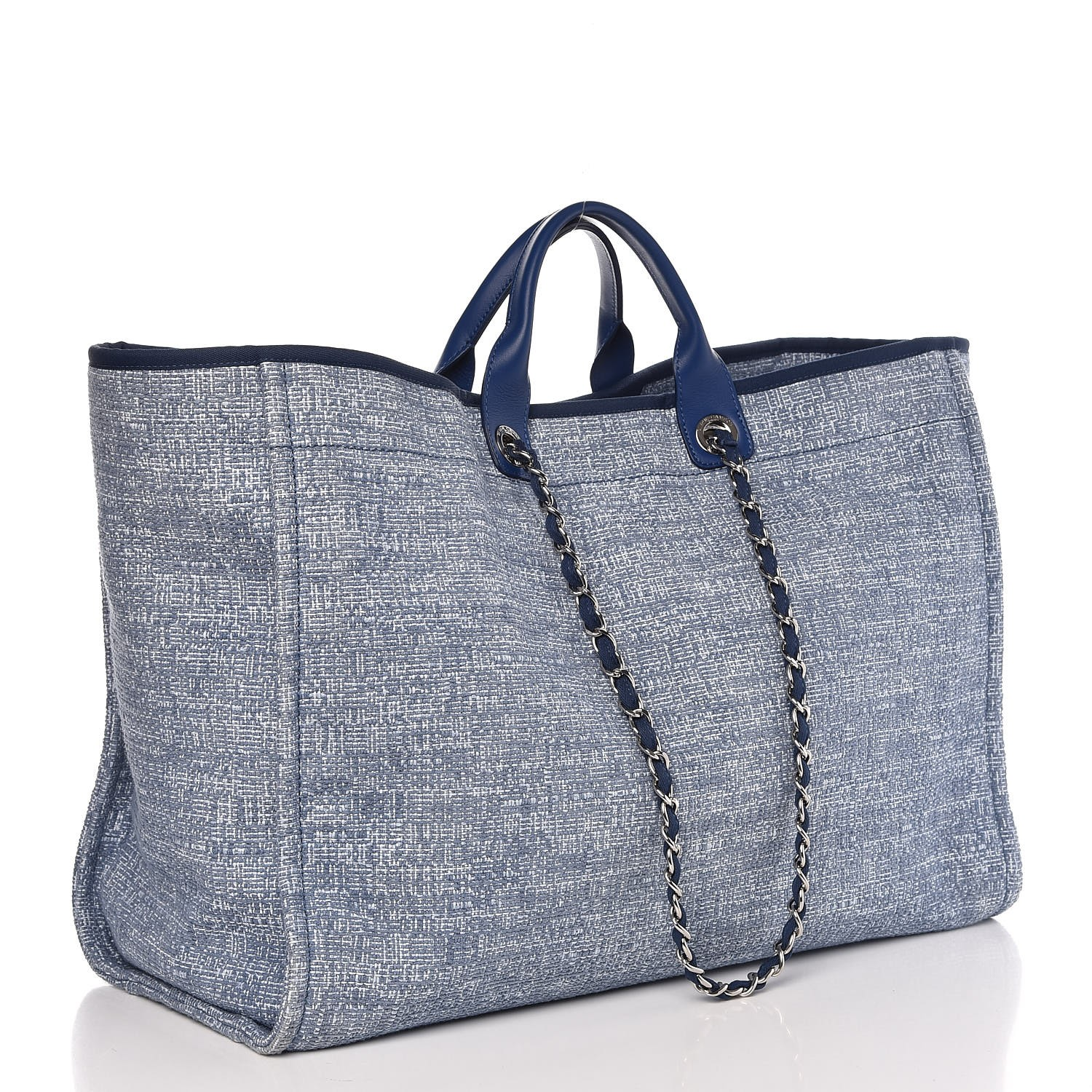 3a016260680dfc CHANEL Canvas Extra Large Deauville Tote Blue 307178