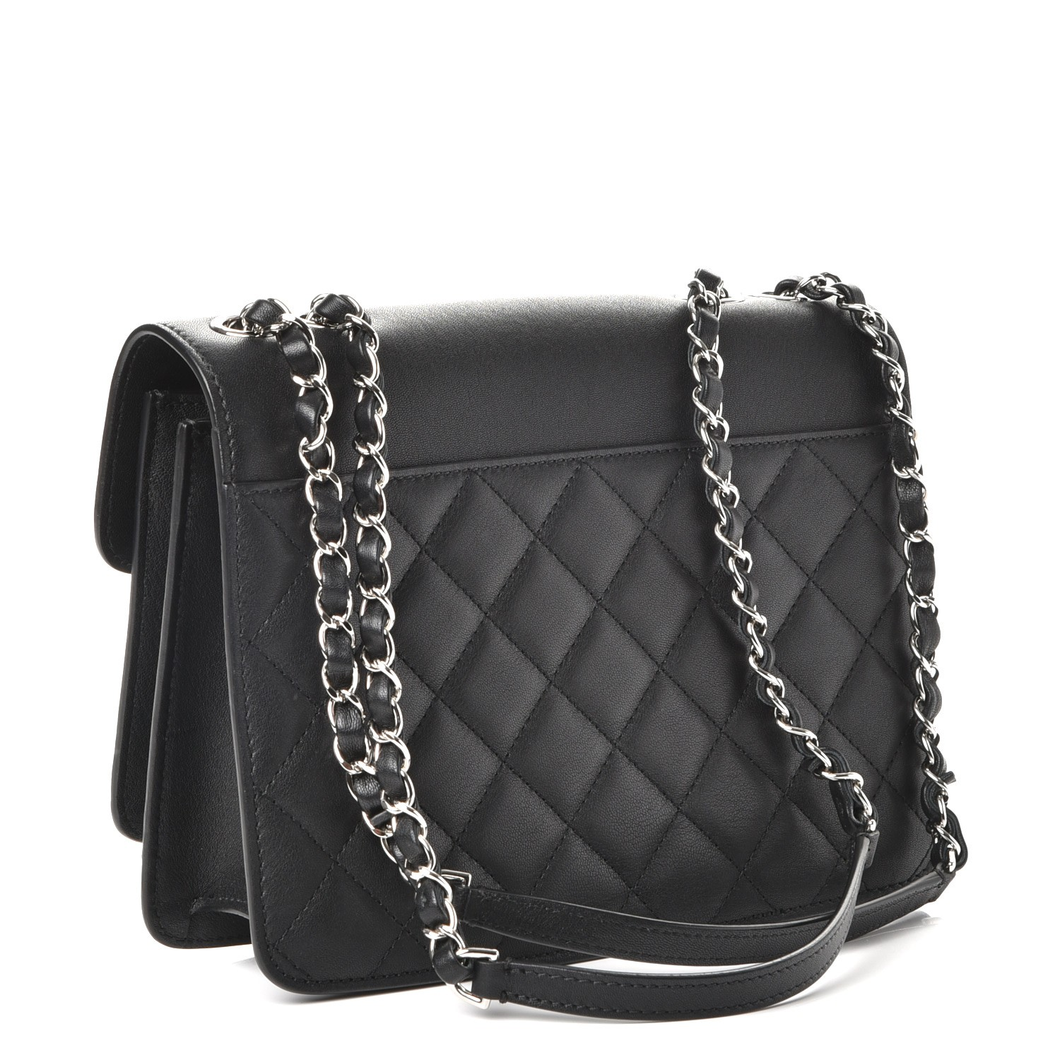 2b4f0813cc3f CHANEL Lambskin Quilted Mini Urban Companion Flap Black 235253