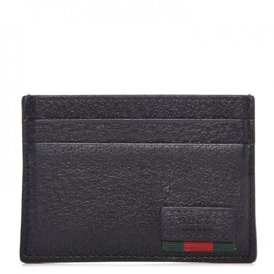 05073ceb88d GUCCI Calfskin Web Money Clip Black 285968
