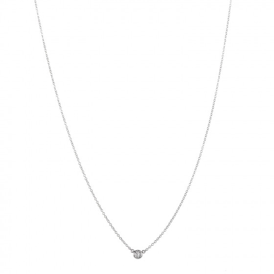 c5a37af52 TIFFANY Platinum Diamond .14ct. Elsa Peretti Diamonds by the Yard Pendant  Necklace 364237