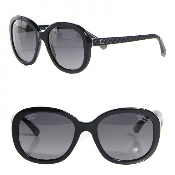 84af24ede6533 CHANEL Polarized Quilted CC Sunglasses 5328 Black. Empty. Pinch Zoom. ‹ › ‹  ›