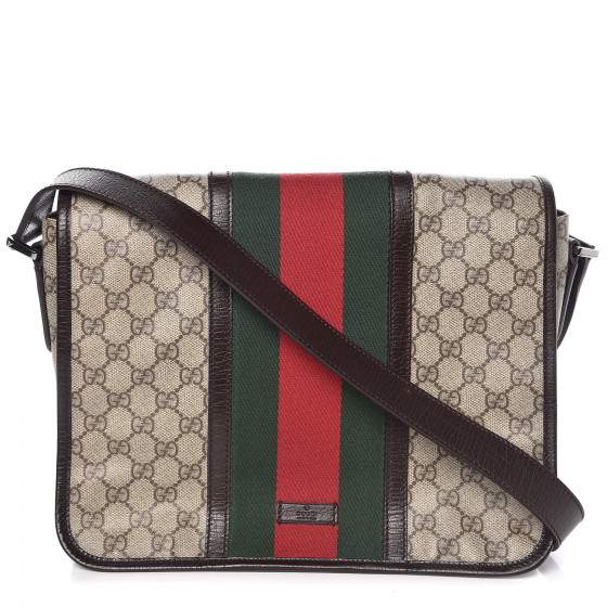 eec81e44c2607 GUCCI GG Plus Monogram Large Vintage Web Messenger Bag