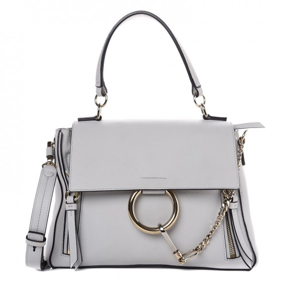 8d903e27997 CHLOE Calfskin Small Faye Day Shoulder Bag Airy Grey 284367