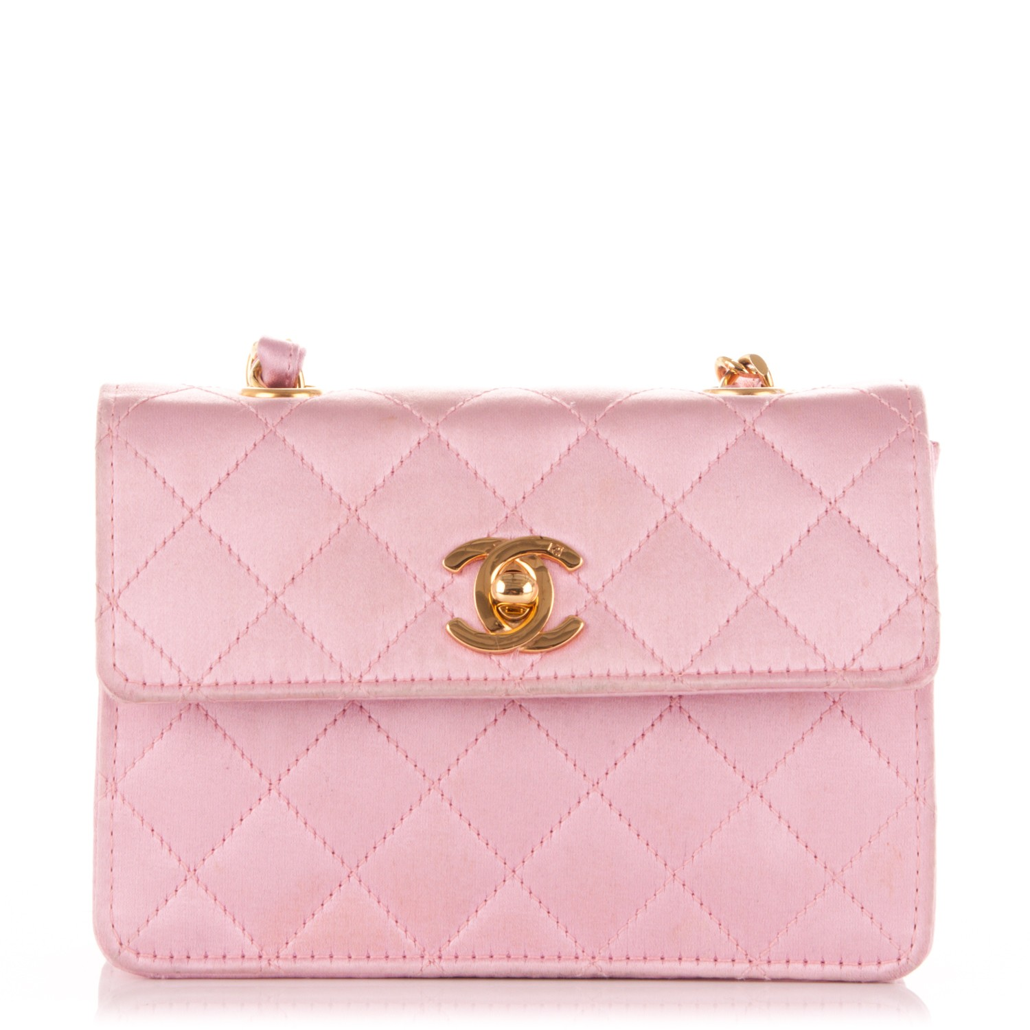 445e20e038c230 CHANEL Satin Quilted Micro Mini Flap Pink 175060
