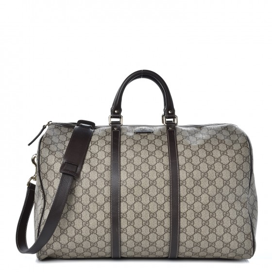 75f158dce GUCCI GG Plus Monogram Medium Carry On Duffle Bag Brown 339476