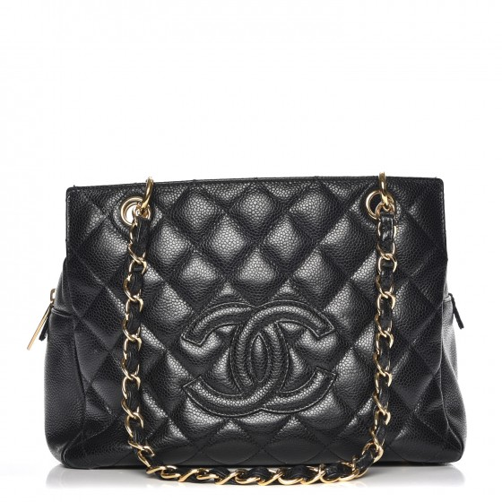 aae262c94250 CHANEL Caviar Quilted Petit Timeless Tote PTT Black. Empty. Pinch/Zoom
