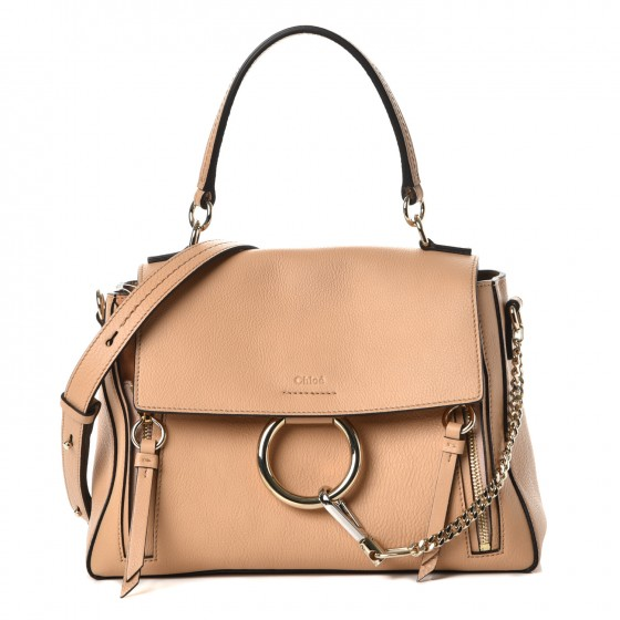 24970d8bf39 CHLOE Calfskin Small Faye Day Shoulder Bag Blush Nude 235798