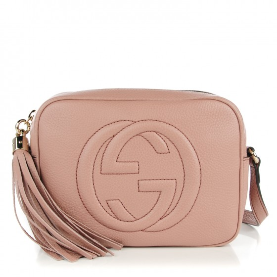 d9ef397db0a0 GUCCI Pebbled Calfskin Small Soho Disco Bag Face Powder 132403
