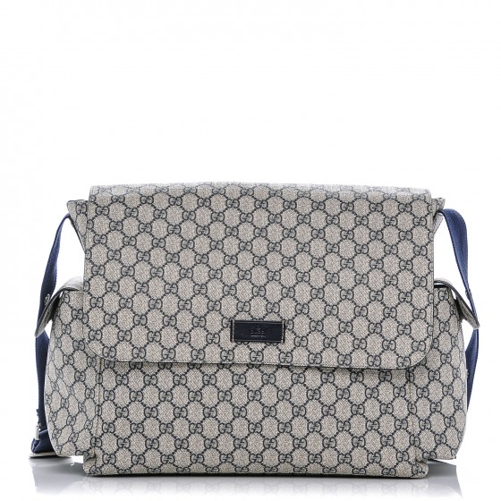 90264e46d41a GUCCI GG Plus Monogram Messenger Diaper Bag Navy 183906
