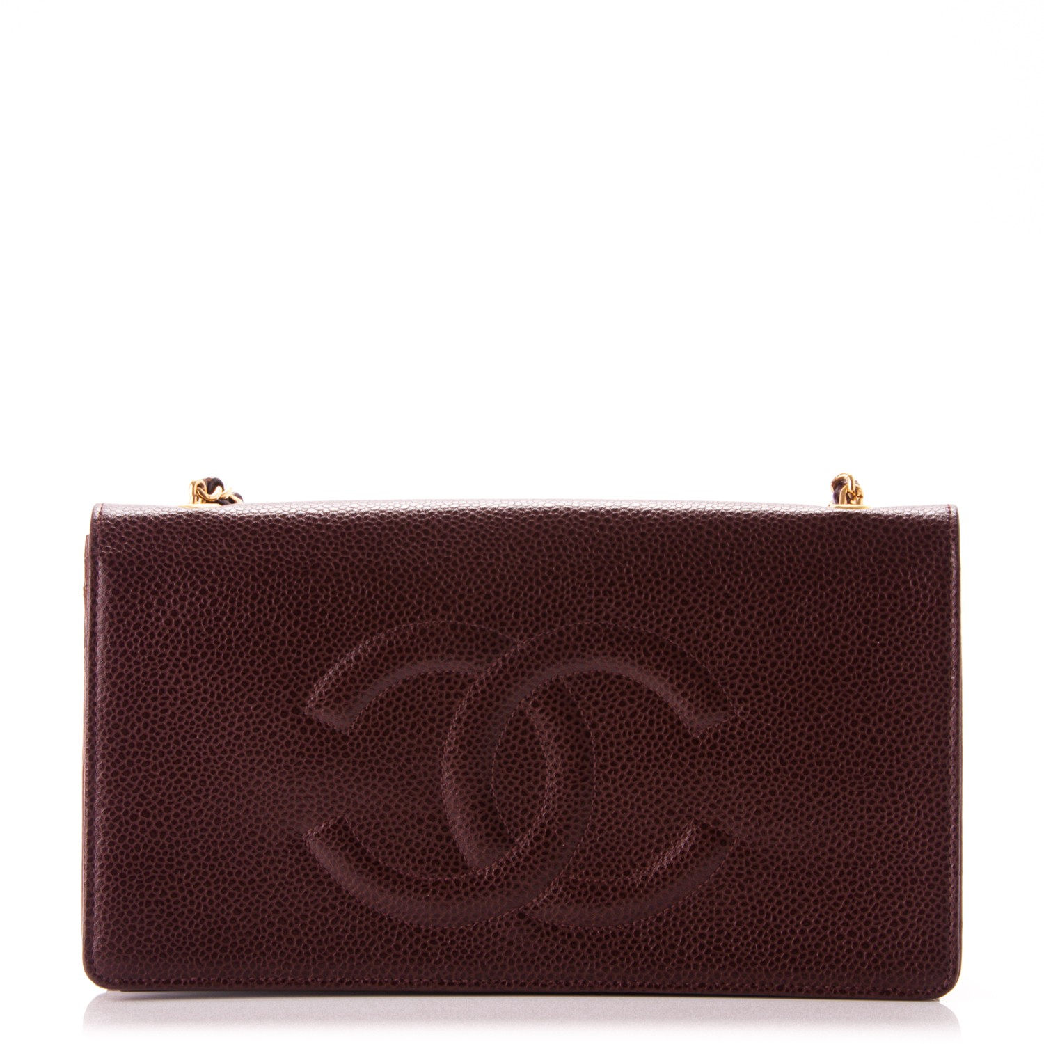 70cc8b15279a CHANEL Caviar Timeless CC Wallet on Chain WOC Brown 176855