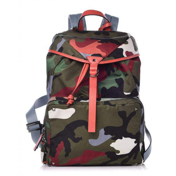 f9d820c6d18a8c VALENTINO Nylon Camouflage Backpack Multicolor 327201