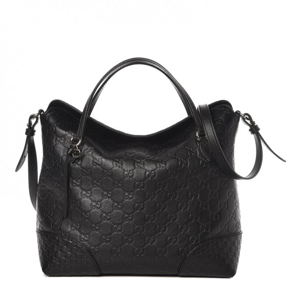 f6b14121d043eb GUCCI Guccissima Medium Bree Top Handle Bag Black. Empty. Pinch/Zoom. ‹ › ‹  ›
