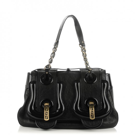f0bc530ee425 FENDI Nappa Vernice Patent B Bag Black. Empty. Pinch Zoom. ‹ › ‹ ›
