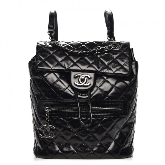 724b9315f76b CHANEL Calfskin Quilted Small Salzburg Mountain Backpack Black 204365