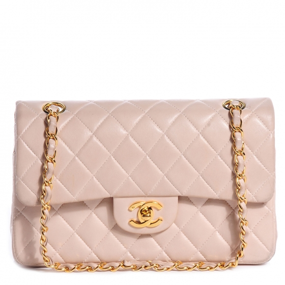 69817a3da231 CHANEL Lambskin Small Double Flap Light Pink 72767