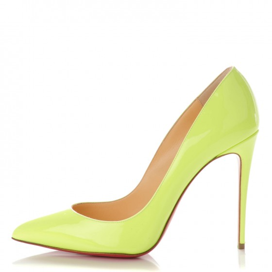 51d51eedab2 CHRISTIAN LOUBOUTIN Patent Pigalle Follies 100 Pumps 39.5 Neon ...
