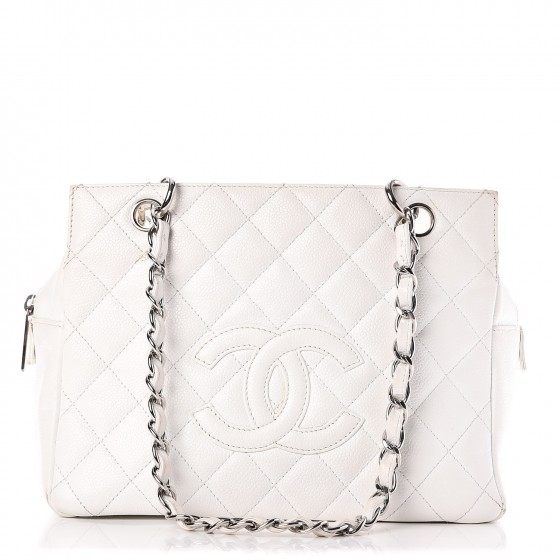 ed685658e1bf CHANEL Caviar Quilted Petit Timeless Tote PTT White. Empty. Pinch/Zoom. ‹ ›  ‹ ›