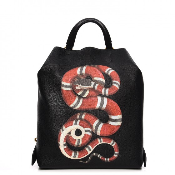 8a26c4ebb11 GUCCI Calfskin Kingsnake Print Backpack 212573