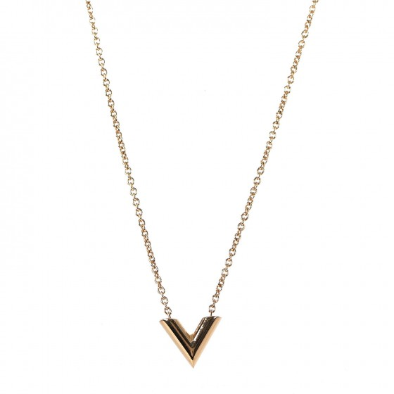 dda90587aa55 LOUIS VUITTON Essential V Necklace Gold 327832