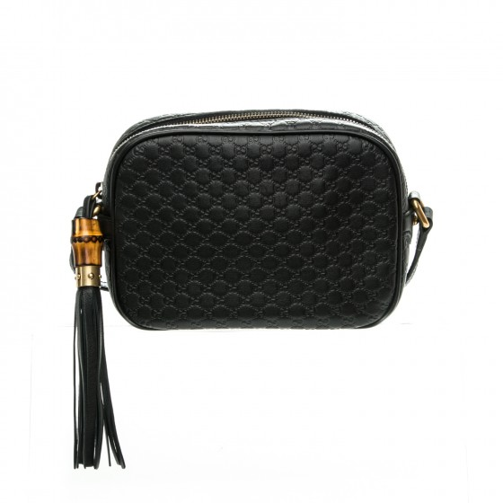 c56ea71a287 GUCCI Microguccissima Sunshine Disco Crossbody Bag Black 183993