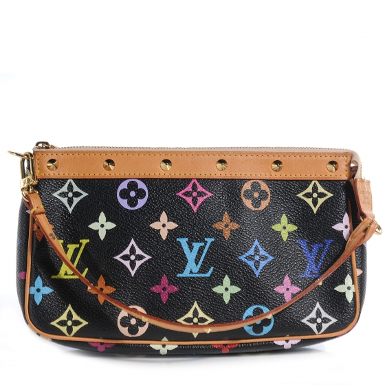 aa0cbf43463b LOUIS VUITTON Multicolor Pochette Accessories Black 59322