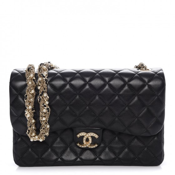 00bfedd3f795 CHANEL Lambskin Quilted Medium Westminster Pearl Flap Black. Empty.  Pinch Zoom. ‹ › ‹ ›