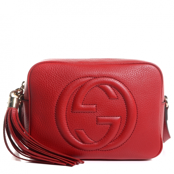 60bad197148 GUCCI Leather Small Soho Disco Bag Red 84921