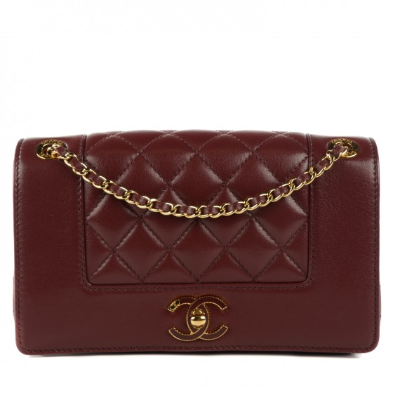 b2fabe38c0b8 CHANEL Sheepskin Quilted Small Mademoiselle Vintage Flap Dark Red. Empty.  Pinch/Zoom. ‹ › ‹ ›