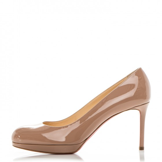 9ba3b06c86e CHRISTIAN LOUBOUTIN Patent New Simple 85 Pumps 39.5 Nude 184457