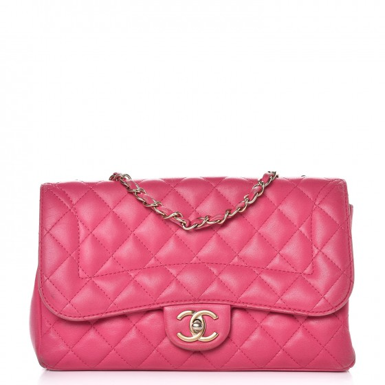 d02d87ae6616 CHANEL Lambskin Quilted Medium Mademoiselle Chic Flap Pink 273624