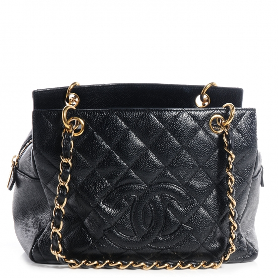 c239d5c0f1e5 CHANEL Caviar Petit Timeless Shopping Tote PTT Black. Empty. Pinch/Zoom. ‹  › ‹ ›
