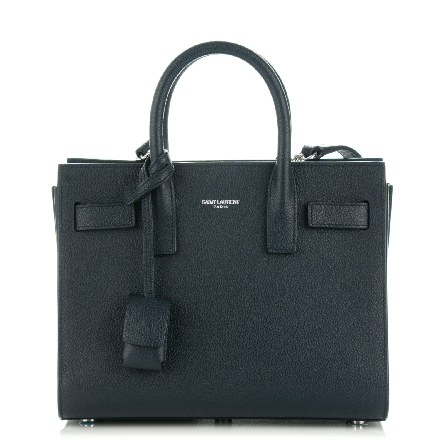 6900984031 SAINT LAURENT Grained Calfskin Nano Sac De Jour Navy Blue 177009