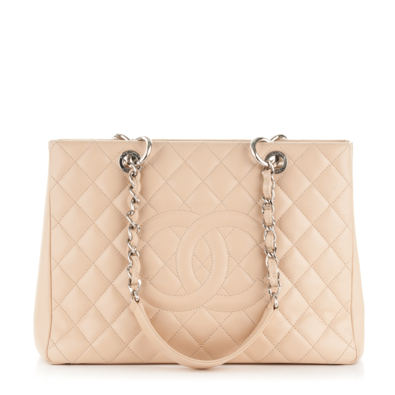0a9c79621b9e CHANEL Caviar Quilted Grand Shopping Tote GST Beige Clair 177850