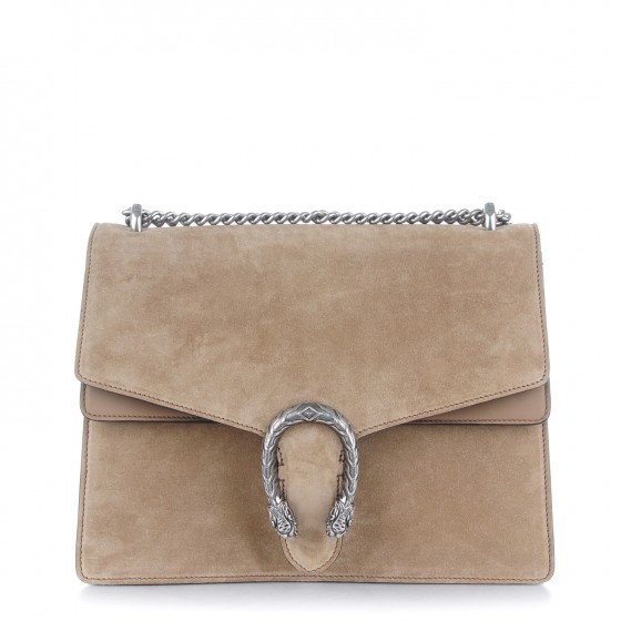 88b6734aa89ad3 GUCCI Suede Medium Dionysus Shoulder Bag Taupe 154461