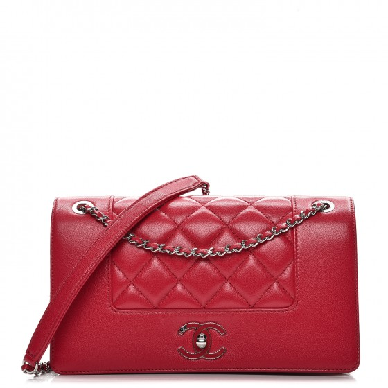 8189c7f91b1e CHANEL Iridescent Sheepskin Quilted Small Vintage Mademoiselle Flap Dark  Pink. Empty. Pinch/Zoom. ‹ › ‹ ›