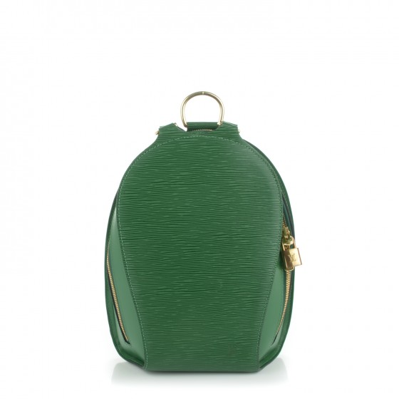 ee680cfc4920 LOUIS VUITTON Epi Mabillon Backpack Borneo Green 171955