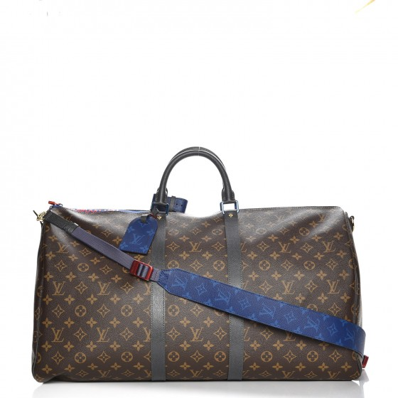 28eba0174 LOUIS VUITTON Monogram Taiga Outdoor Keepall Bandouliere 55 227820
